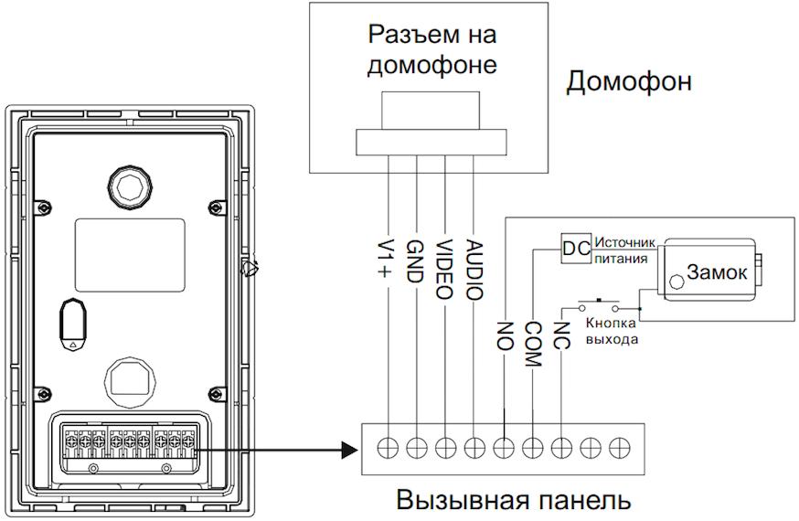 Вызывная панель схема подключения фото 604